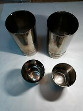 2 Snap-on Tools 7/16 Sockets Mugs Beer Chrome Shot Plated Glass 2 11/32 Glasses