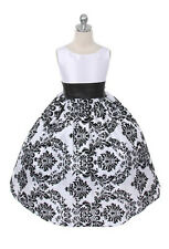 New Girls Black Dress Pageant Wedding Birthday Christmas Formal Baby Party Fancy
