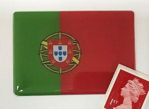 Portugal Flag Sticker Super Shiny Domed Finish 64mm