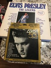 Elvis Presley The legend 10 LP Record Set And Greatest Hits Gold In Pix Sleeves