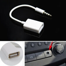 Car MP3 Off-Road 3.5mm Male AUX Audio Plug Jack To USB 2.0 Converter Cord Cable