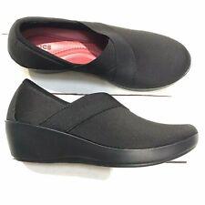 Crocs Dual Comfort Black Versatile Wedge Size 8 Womens Shoes Slip On