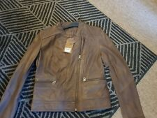 Next Genuine Real leather brown jacket size 8