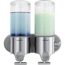 Simplehuman, Twin Wall Mount Pump Soap Dispenser, Stainless Steel, BT1028
