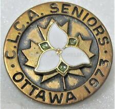 1973 CLCA OTTAWA SENIORS CANADIAN LADIES CURLING ASSOCIATION Pin
