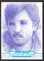 2018 Topps Star Wars Galactic Files Sketch Card by Andrew Fry 1/1
