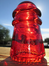 Vintage Hemingray 9 Garnet Red Glass Insulator Colored / Stained CD 106