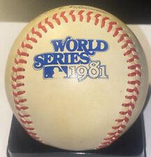 Vintage Rawlings Official 1981 World Series Baseball Haiti Stamp Dodgers