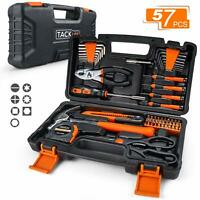 TACKLIFE 57-Piece Home Tool Kit - General Household Tool Set with Storage Case-H