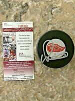 Valtteri Filppula #51 signed Detroit Red Wings NHL Hockey Puck JSA #H05438