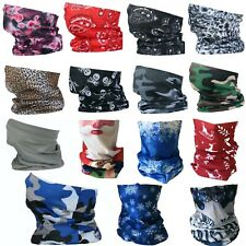 SNOOD FACE MASK COVERING WASHABLE FASHION ADULT BIKER SCARF NECK COVER GAITER