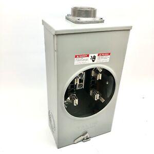 TALON TYPE UAT-3 UAT 317-DPC 4JAW METER SOCKET 250AMP ELECTRIC BOX