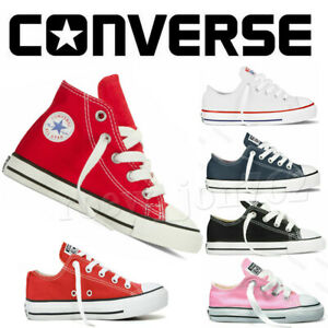 Unisex Kids Converse Shoes Canvas High Low Top Sneakers For Children Trainers UK