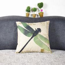 Home Textiles Dragonfly Cotton Linen Vintage Home Decor Pillows Cushion Cover
