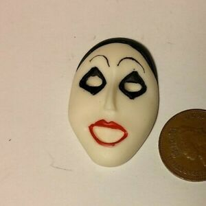 Dolls House Miniature 1:12 Scale White Mask - Scary