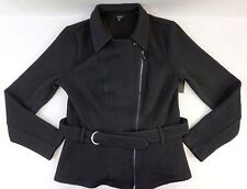 NWT Macy's Guess Women's Jet Black Agna Moto Long Sleeve Jacket XL