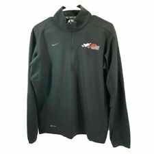 "Nike Men's Textured Dri-Fit 1/2 Zip LS Top w/ ""Joe Gibbe Racing"" logo Med 642042"