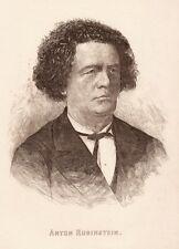Anton Rubinstein, Original-Radierung von ca. 1890