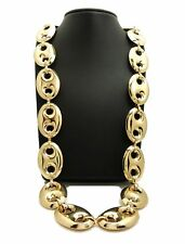 "Men Rapper's Hip Hop Style Gold Tone Chunky Thick 27mm 30"" Marina Chain Necklace"