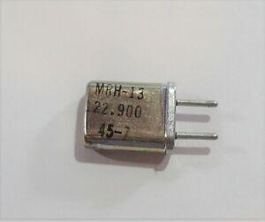 Aircraft Scanner Crystal - 122.9000 MHz - MRH-13 - 10.5 iF - HC-25/U - .039 Pins