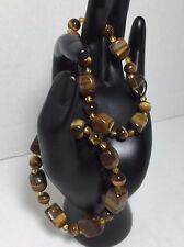 NEW LADIES  SET OF 2 TIGERS EYE STRETCH BRACELETS GIFT FOR HER