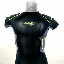 Riddell Power Amp Integrated 5 Pad Compression Shirt Black Youth Medium