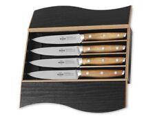 SteakChamp Gourmetmesser Steakmesser 4er-set Akazienholz Messerstahl Profiqualit