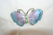 Large art deco silver and enamel Butterfly brooch.