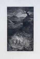 Eau-forte originale, L'Enfer, Jules Jacques Veyrassat, XIXème siècle