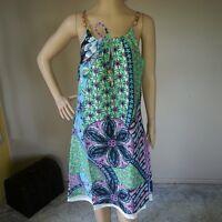 NEW 100% COTTON DRESS Full Lining Size 12 16 Boho Print