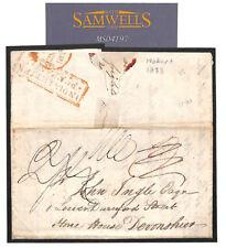 MS4197 1833 Australia TASMANIA EL Cover *INDIA LETTER PENZANCE* Cornwall RARE