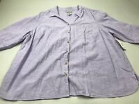 Catherine's XXL Purple Linen Button Top Tunic Shirt 2XWP NEW NWT