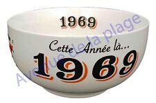 Bol année de naissance 1969 en grès - idée cadeau anniversaire neuf