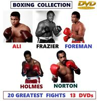 Boxing Greatest Fights DVD collection. Ali, Frazier, Foreman, Norton, Holmes