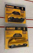 DeWalt DCB230-2 20V 3.0 Ah MAX Lithium Ion Battery 2 Pack New Genuine