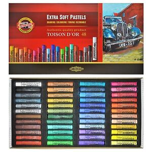 Dry pastels Toison DOR 48 Colors 8556 Extra soft jumbo KOH-I-NOOR great price