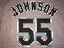 MARLINS Mens T-Shirt GRAY Vintage Josh JOHNSONS Number 55 Size 2XL NWOT