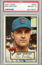 1952 Topps Ron Northey #204 PSA 8 P456