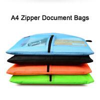 A4 Dokumententasche Zipper Bag PVC Tasche Aufbewahrung Zip Reißverschluss 2Farbe