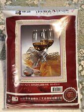 New 26�x32� Celebration Anniversary Wine Champagne Glass Cross Stitch Kit 66x83