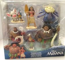 DISNEY MOANA  ADVENTURE PACK PLAYSET 2016 NEWEST DISNEY RELEASE SET OF 6 NEW