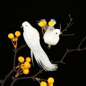 12pcs Simulation Birds Artificial Foam Feather DIY Craft Wedding Home Decor UK