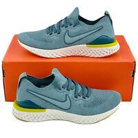 Nike Epic React Flyknit 2 Blue Grey Women's Running Shoes Sneakers AQ3243 005