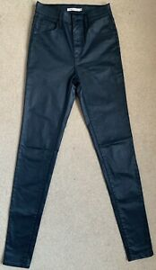 Levis Mile High Super Skinny Stretch Leather Effect Wonen's Jeans W26 L34 (D341)