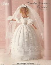1830 Romance Era Bride #10 Dress Paradise Crochet Costume Fashion Doll Pattern