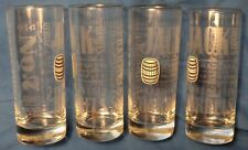 "Set of 4 Jack Daniel's ""Old No.7"" Drink Glasses - Tall 10 Ounce Glasses....NEW"