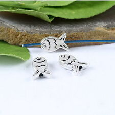 30pcs Tibetan silver cute crafted fish spacer beads h0769