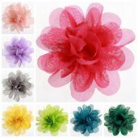 "50PCS 5CM 2"" Chic Crochet Chiffon Flowers For Headband Fabric Flowers For Hair"