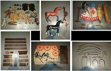 gros lot accessoires BIG JIM western cow-boy an70 : habits, animaux, charriot...