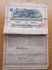 Original Benguela Railway Bond dated 1915 with Coupons Zambesia Explorations